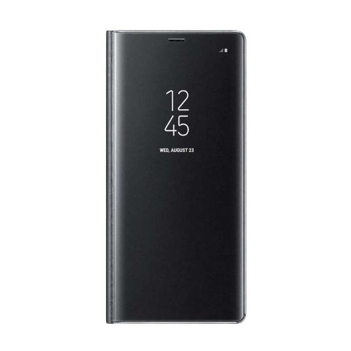 Samsung Galaxy Note 8 Case Clear View Stand Cover - Black ORIGINAL