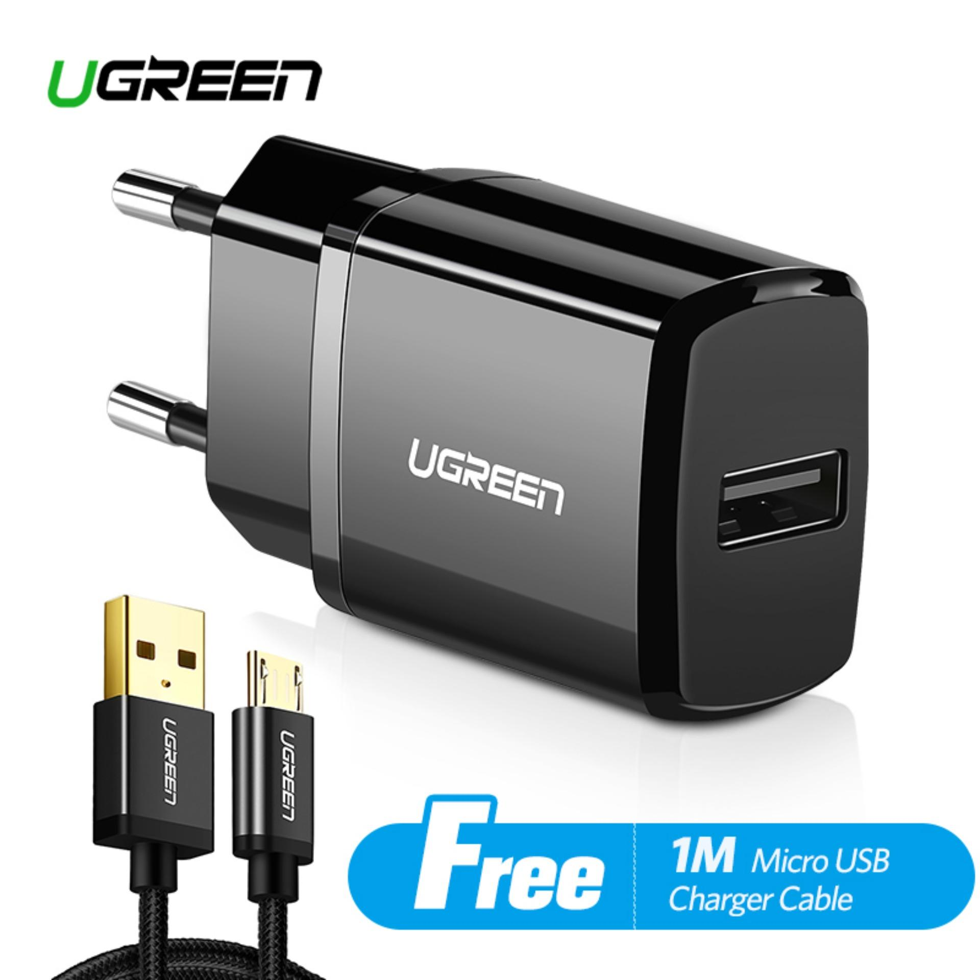 UGREEN Original Charger USB Charger for Xiaomi Redmi Samsung Apple iPhone  Handphone HP + Free 1 0bf47d9188