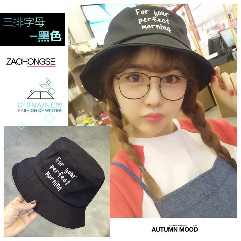 Sastra Murid Netral Topi Nelayan Topi Buket Pria dan Wanita Versi Santai Korea Gaya Jepang Musim