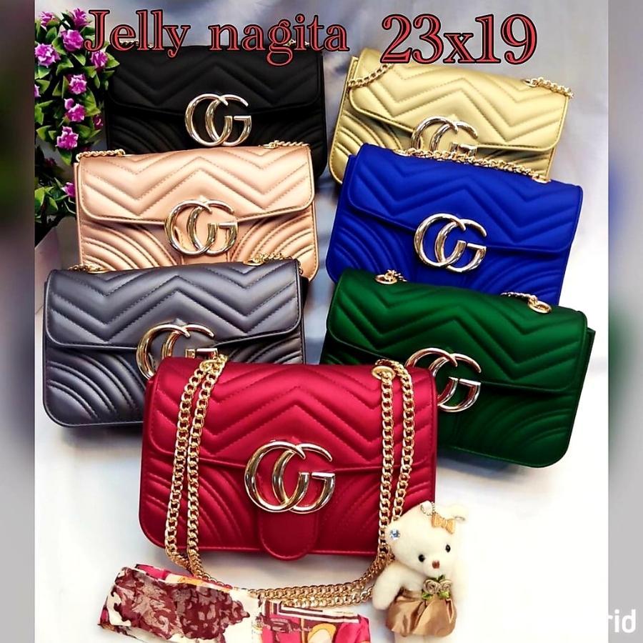 galery tas jelly matte nagita 23cm besar BISA BAYAR DI TEMPAT marmont new arival 2018 tas selempang wanita-tas wanita import.free syal boneka