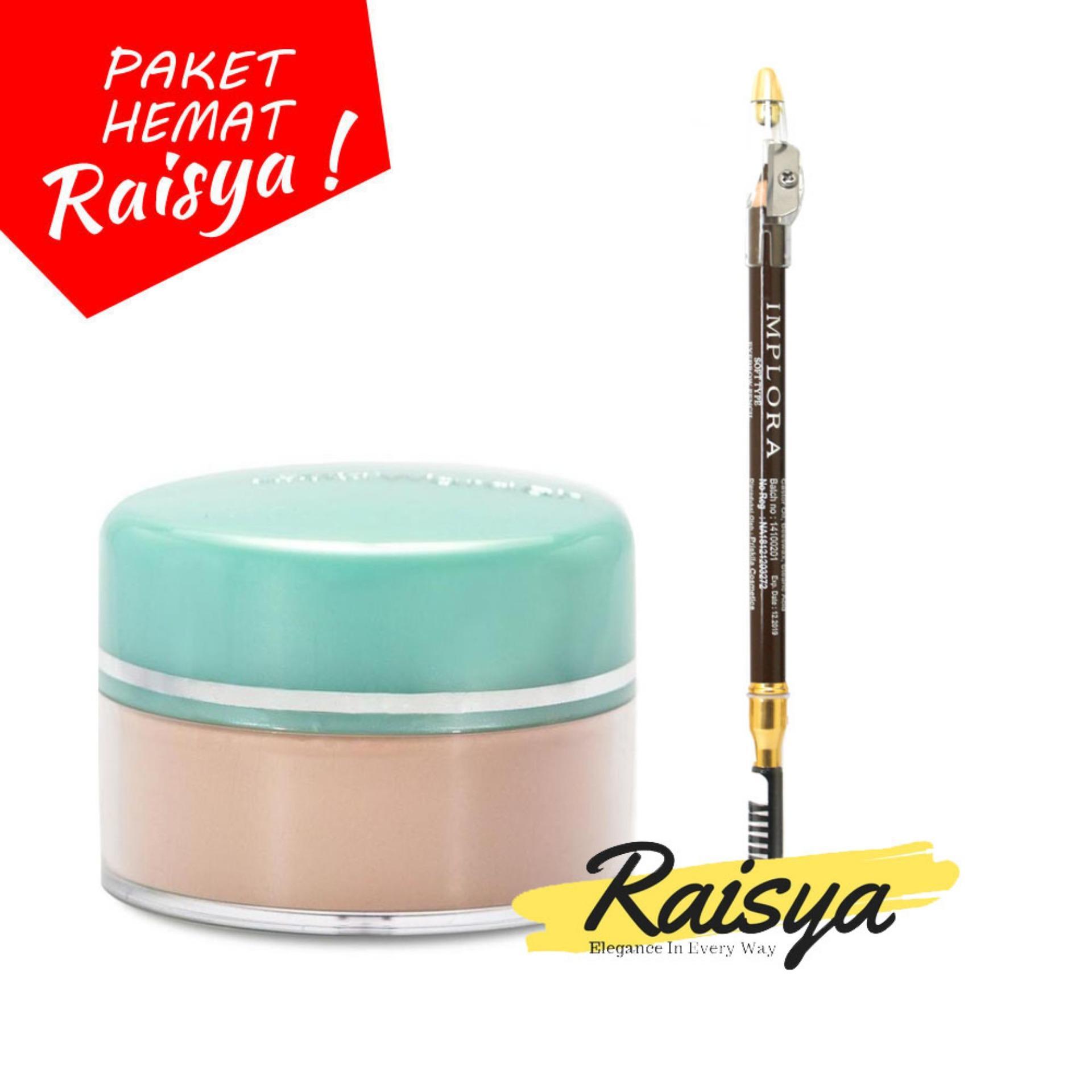 Wardah Everyday Luminous Face Powder - Bedak Tabur - 04 Natural Free Implora Pensil Alis Coklat Resmi BPOM