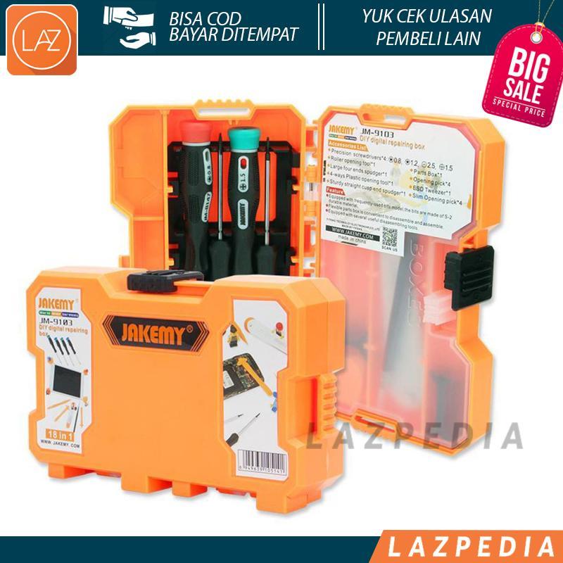Laz COD - Jakemy 18 in 1 Smartphone Screw Driver Repair Tools Set / 18 Jenis Macam Obeng Dapat Mereparasi Jenis Gadget Kesayangan / Orange - Lazpedia A38