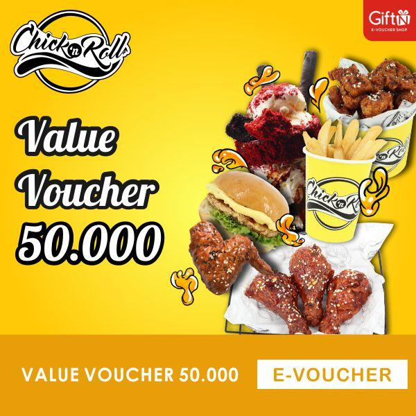 Chick N Roll Value Voucher 50.000 By Giftn.