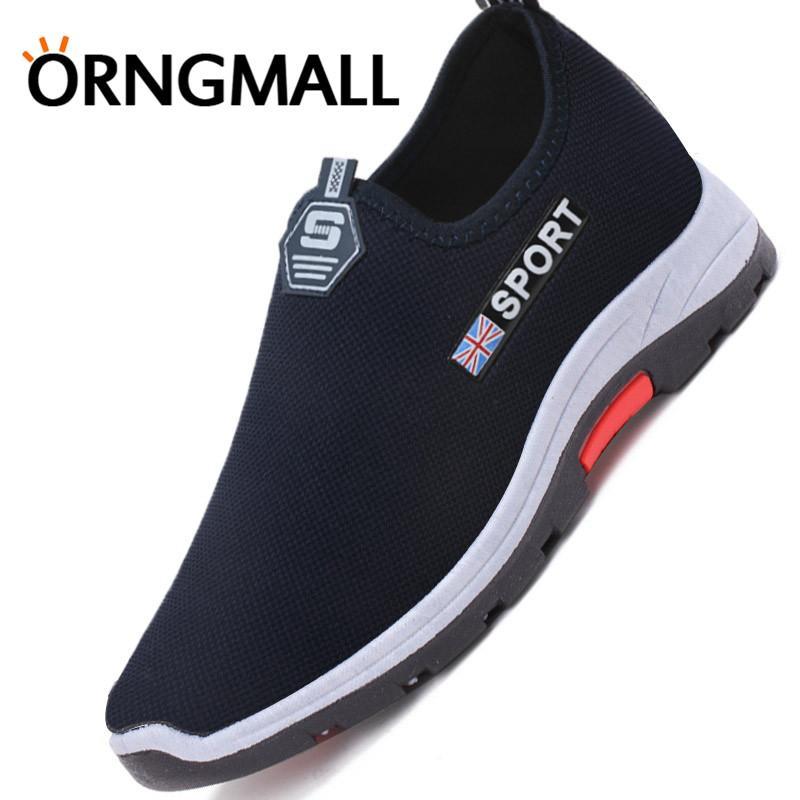 ORNGMALL Baru pria Kasual Sneakers Berjalan Sepatu Malas Nyaman Mengemudi  Sepatu Olahraga Sepatu Atletik untuk Pria 7aea1c670f