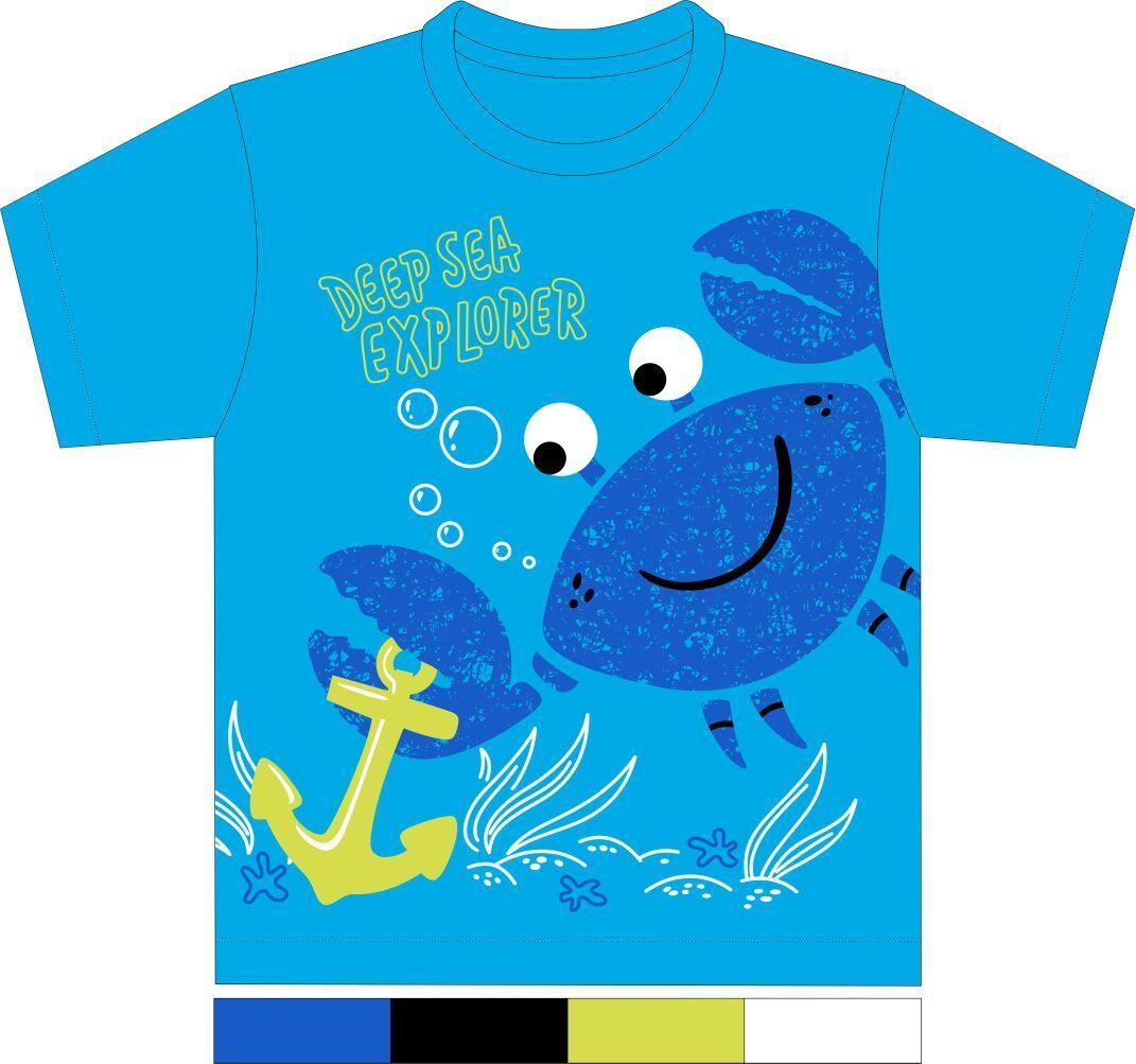 Kaos Anak Karakter - Kepiting Biru Muda