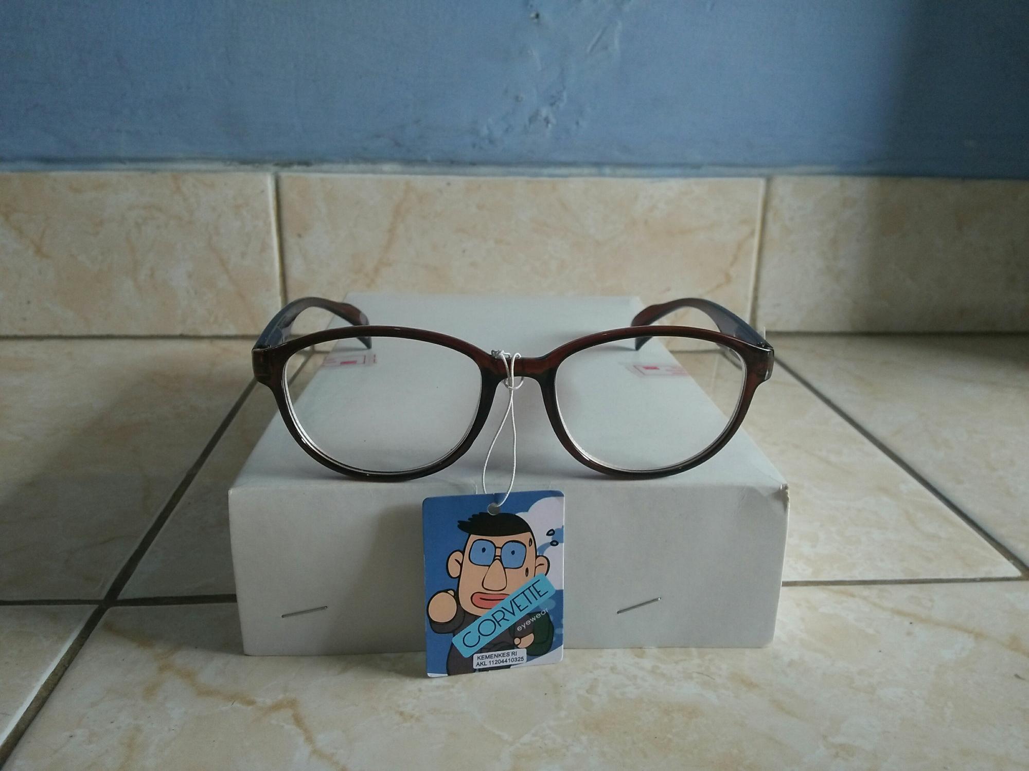 Promo kacamata minus 2.00 murah kacamata oval trendy gaya kacamata baca zo114