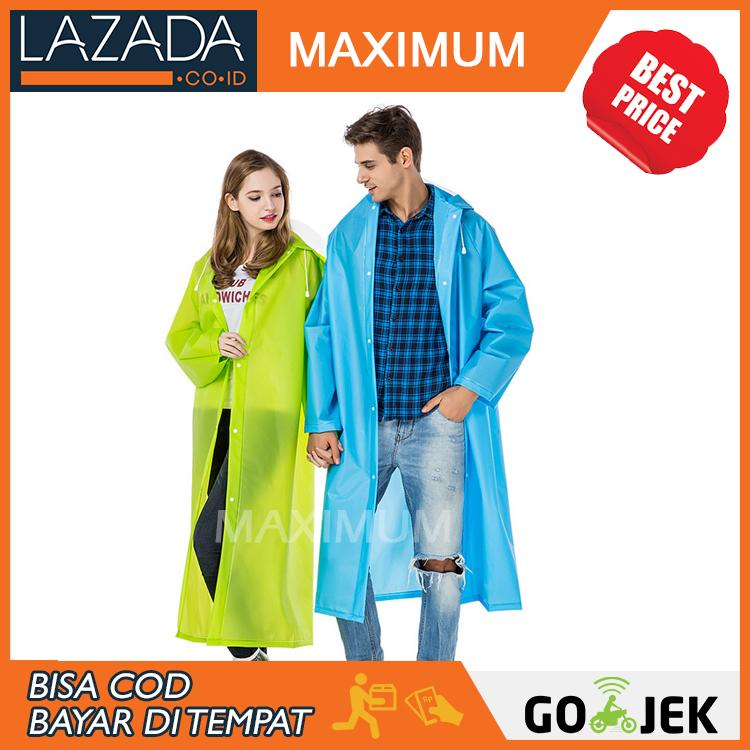 Max COD - Jas Hujan Ringan Tahan Air Model Ponco - Lightweight Raincoat - Rain Coat - Warna Random - Bukan Axio