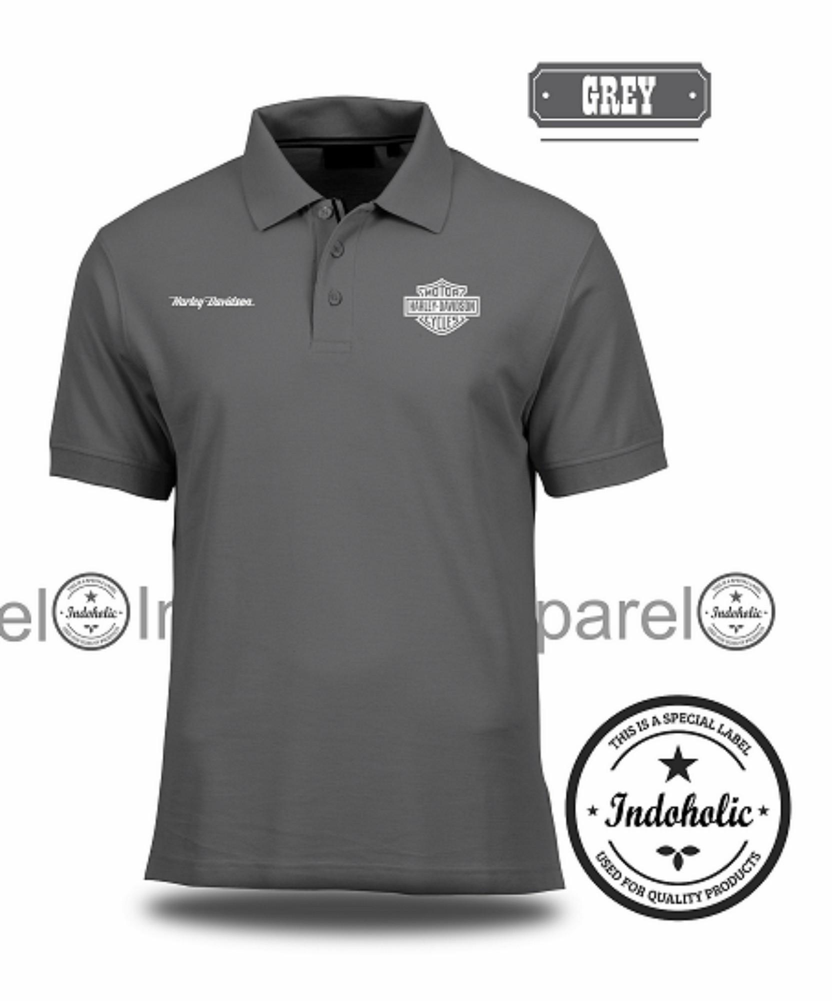 Polo Shirt Kaos Distro Motor Harley Davidson T-Shirt Fashion Pria Wanita Cowo Cewe Baju T Shirt Jakarta Bandung Terbaru Baru Jaman Now Kekinian Atasan Pakaian Polos Pendek Kerah Berkerah Lacos Pique Lacost Formal Casual Korean Murah Bagus