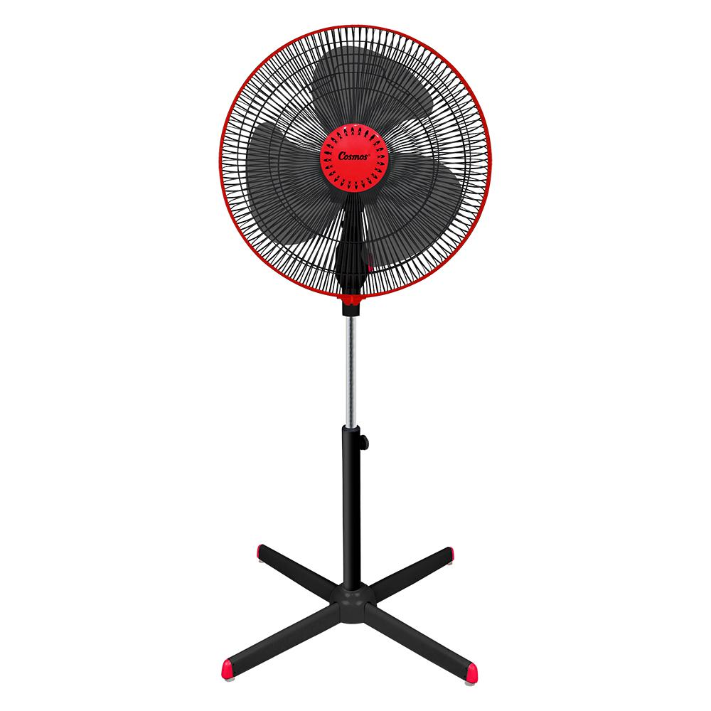 Cosmos 16-XDC - Kipas Angin / Stand Fan 16 inch Black/Red