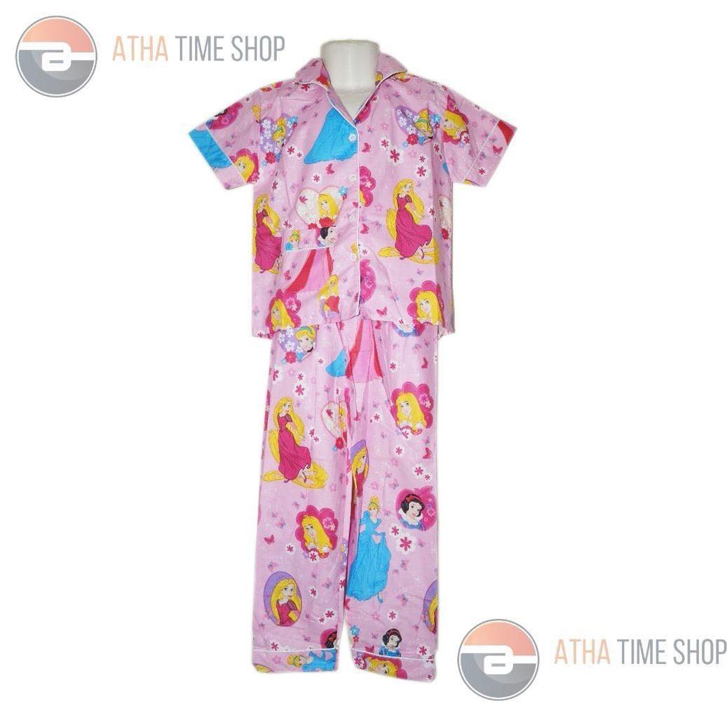 Fashion Baju Tidur Anak Bahan Kaos COTTON Bergambar FROZEN
