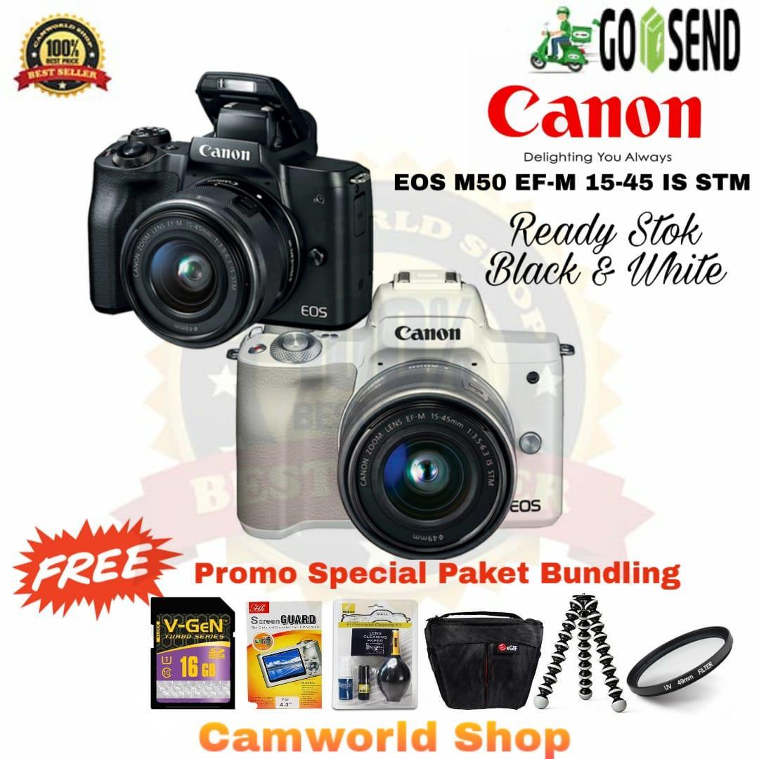 Mirrorless Canon Eos M10 Kit 1 15 45mm F 35 63 Is Stm Garansi Datascrip Hitam M50 Putih Paketan