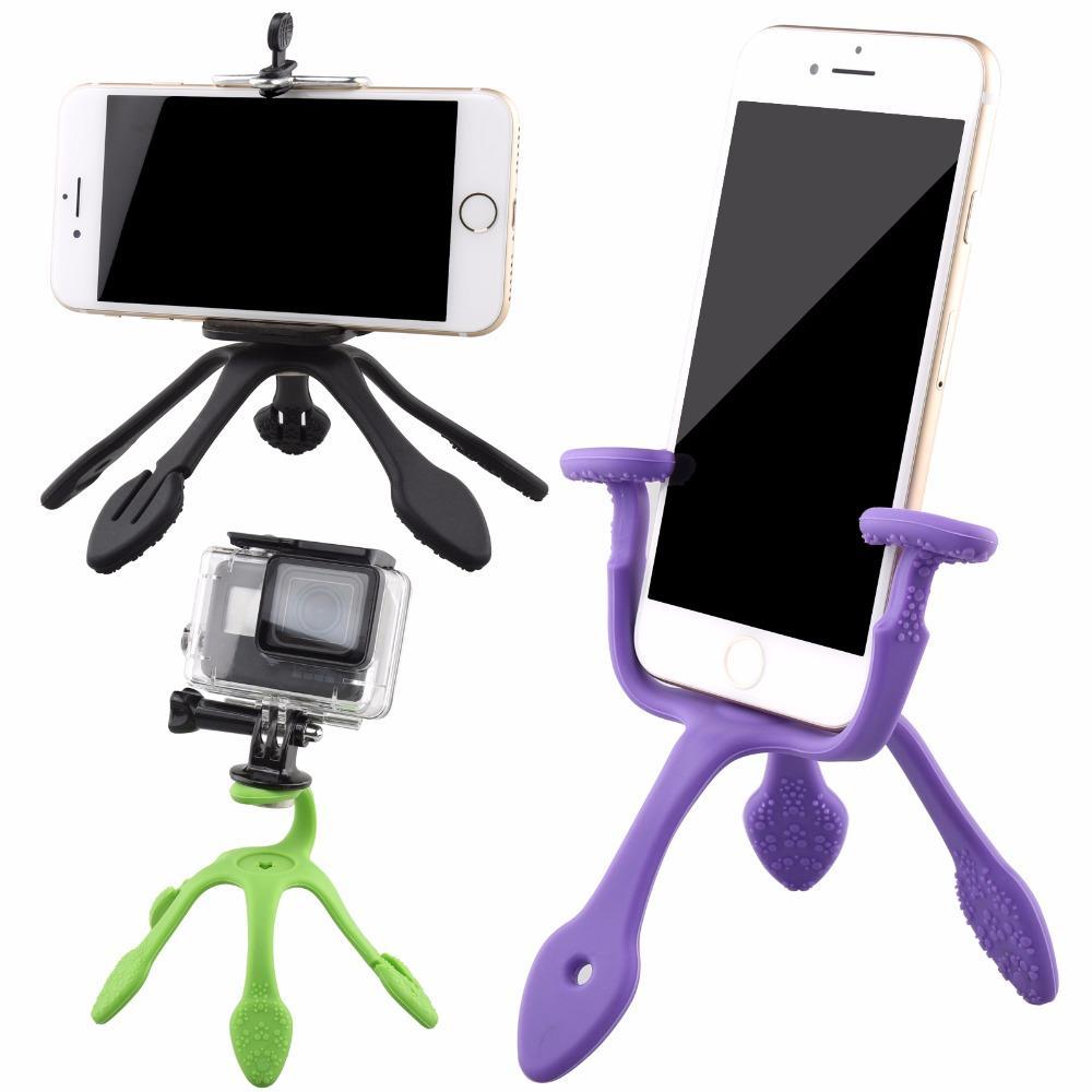 Tripod Gekko + Holder U for Smartphone HP Flexible - Gekkopod Pod - Random Colour