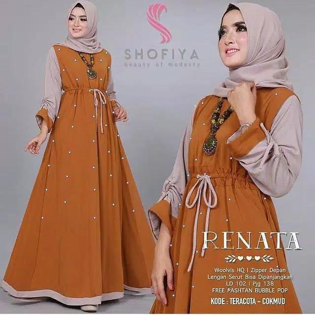 Ayako Fashion Dress Maxi Renata Mutiara (5 Warna)