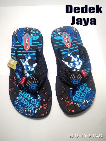Sendal Sandal anak / sandal Jepit Gunung Anak Tanggung / Sandal Anak Pria-Wanita / Sandal Santai Anak / Harles motif skate board Biru / Dedek Jaya