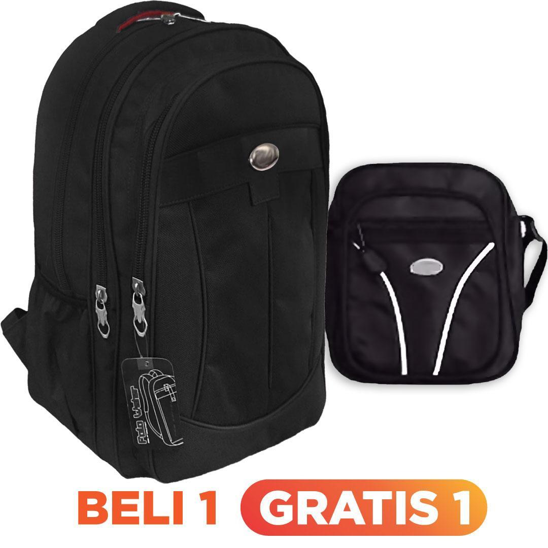 Bag & Stuff P-Decker Laptop Raincover Backpack Up To 14 Inch + FREE Mini Pouch Slingbag / Tas Pria / Tas Wanita / Tas Laptop / Tas Sekolah / Ransel Pria / Ransel Wanita / Ransel Sekolah / Ransel Murah