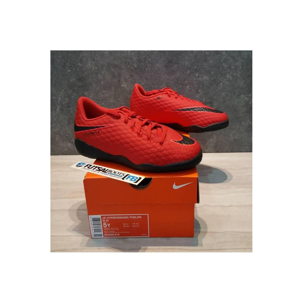 Sepatu Futsal Anak Nike Kids Hypervenom X Phelon IC JR - Red