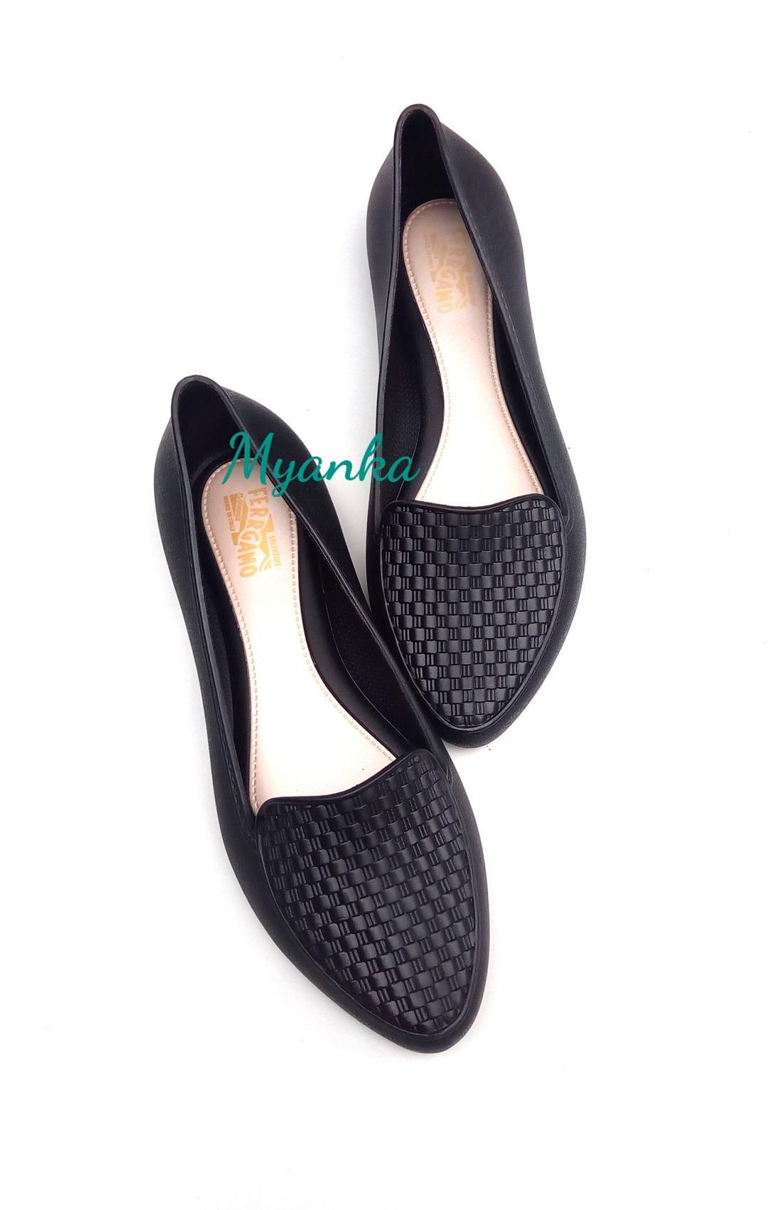 Myanka Jelly Shoes Flat Rodie - Sepatu Wanita -