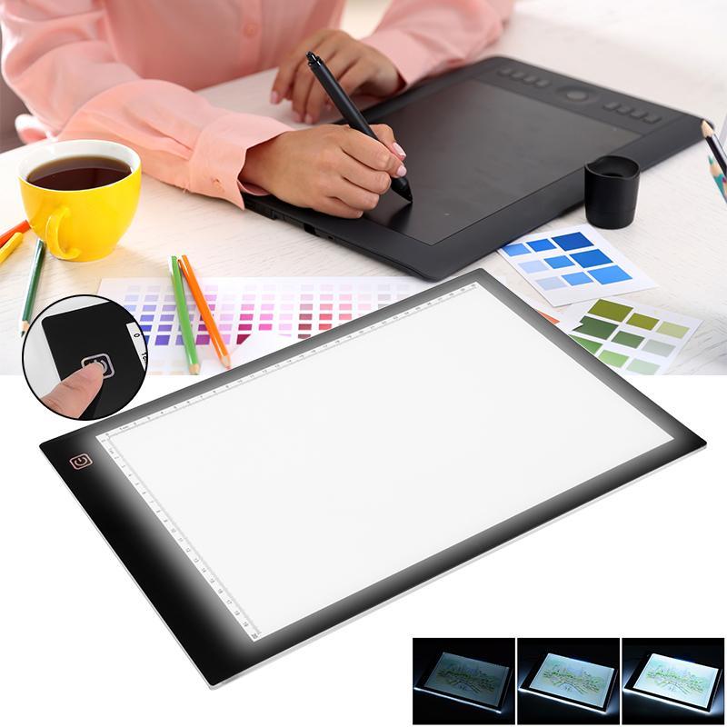 LED Tracing Light Box Board Tattoo A4 Drawing Pad Table Stencil Display AH211