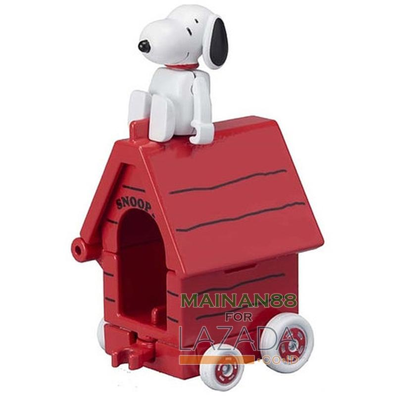 MAINAN88 Diecast Mobil Takara Tomy Tomica Snoopy x House Car Mainan Edukasi Anak Pajangan Miniatur