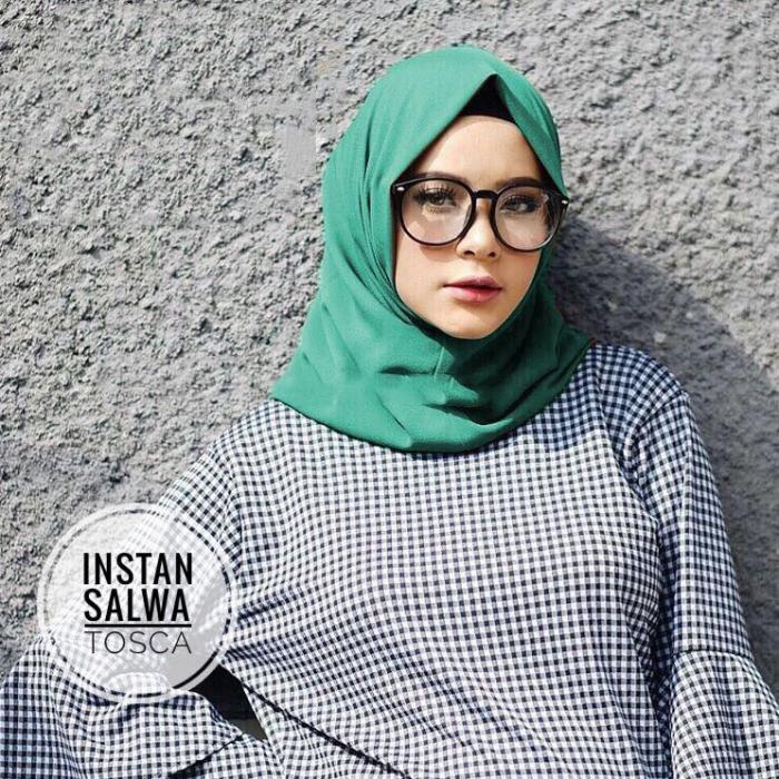 kerudung hijab instan salwa hijau tosca murah bisa bayar di tempat