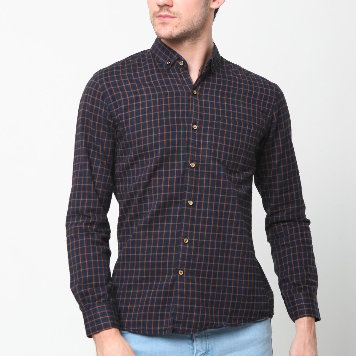 MENTLI Kemeja Flanel Cowo - Arthur Flannel Shirt