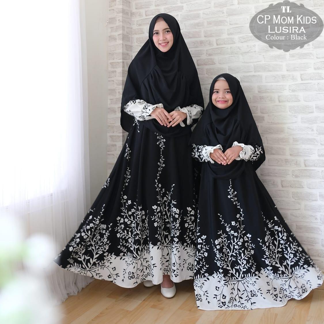 Silentriver88 gamis muslimah syar'i monalis lusiwa ibu dan anak couple