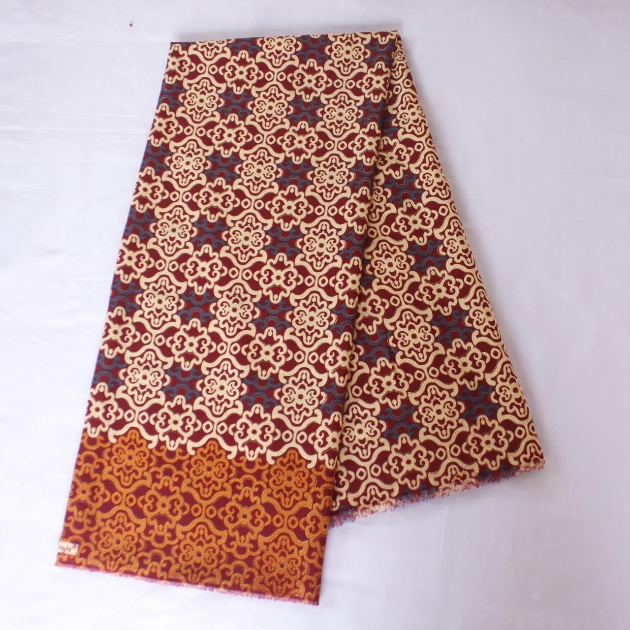 KBS028 Kain Batik Meteran Semi Sutra Bawahan Kebaya Modern Wanita