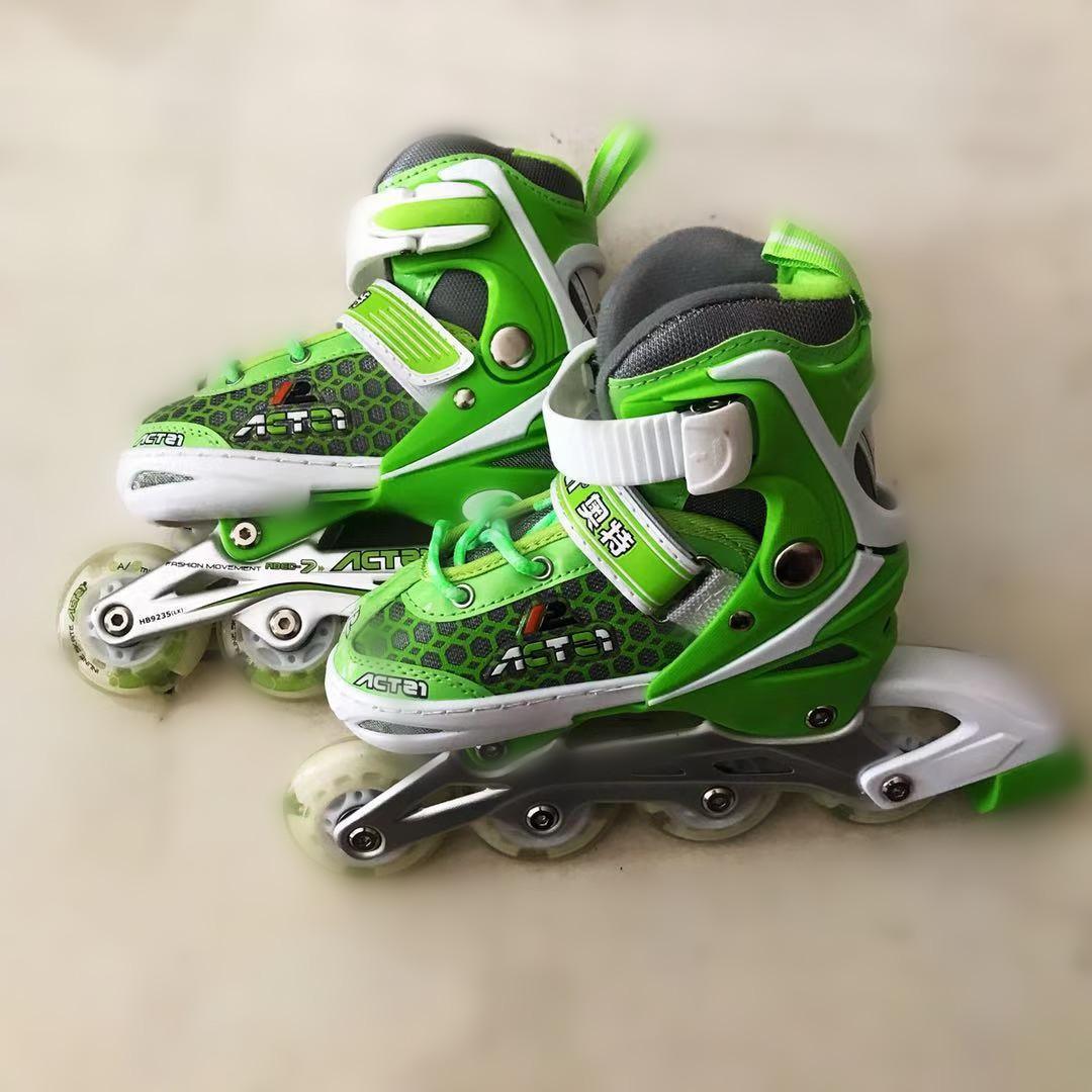 Sepatu roda anak bajaj murah sepatu inline skate lampu 0dc88c7cc1