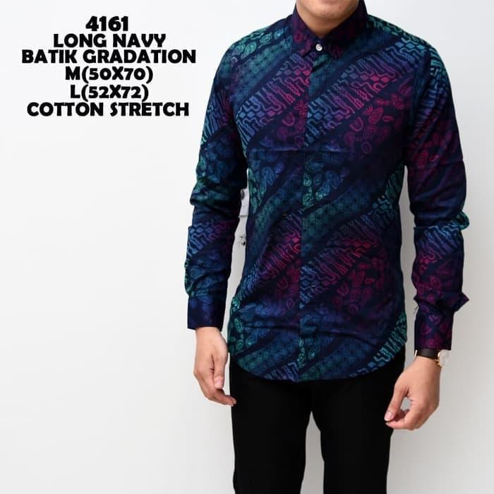HARGA PROMO!!! Baju Batik Slimfit Laki-Laki kemeja pria | kemeja batik panjang - OJQjBI