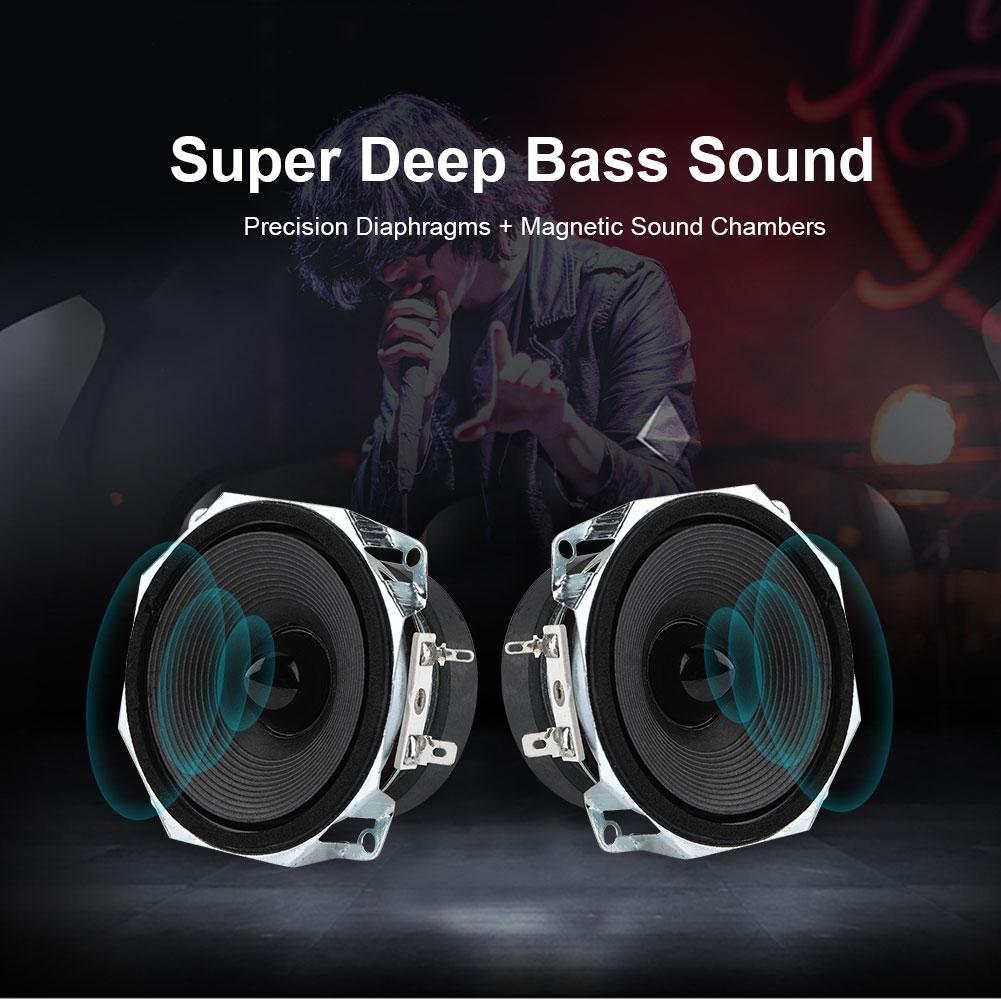 【3 Inches】stereo Audio Loudspeaker 2pcs Full Range Speakers 3 Inches 78mm Speaker 8Ω High Sensitivity Great Diaphragm Diy Bass Speaker - Intl By Sweatbuy.