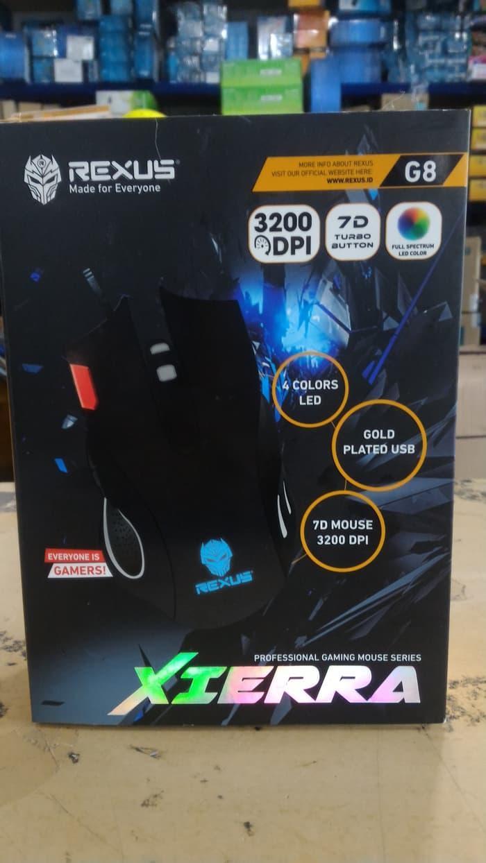 Mouse Gaming Rexus G8 Xierra Viper Daftar Harga Terlengkap Indonesia S5 Aviator Wireless 7d