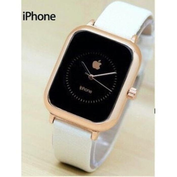 JAM TANGAN PRIA WANITA APPLE IPHONE LEATHER