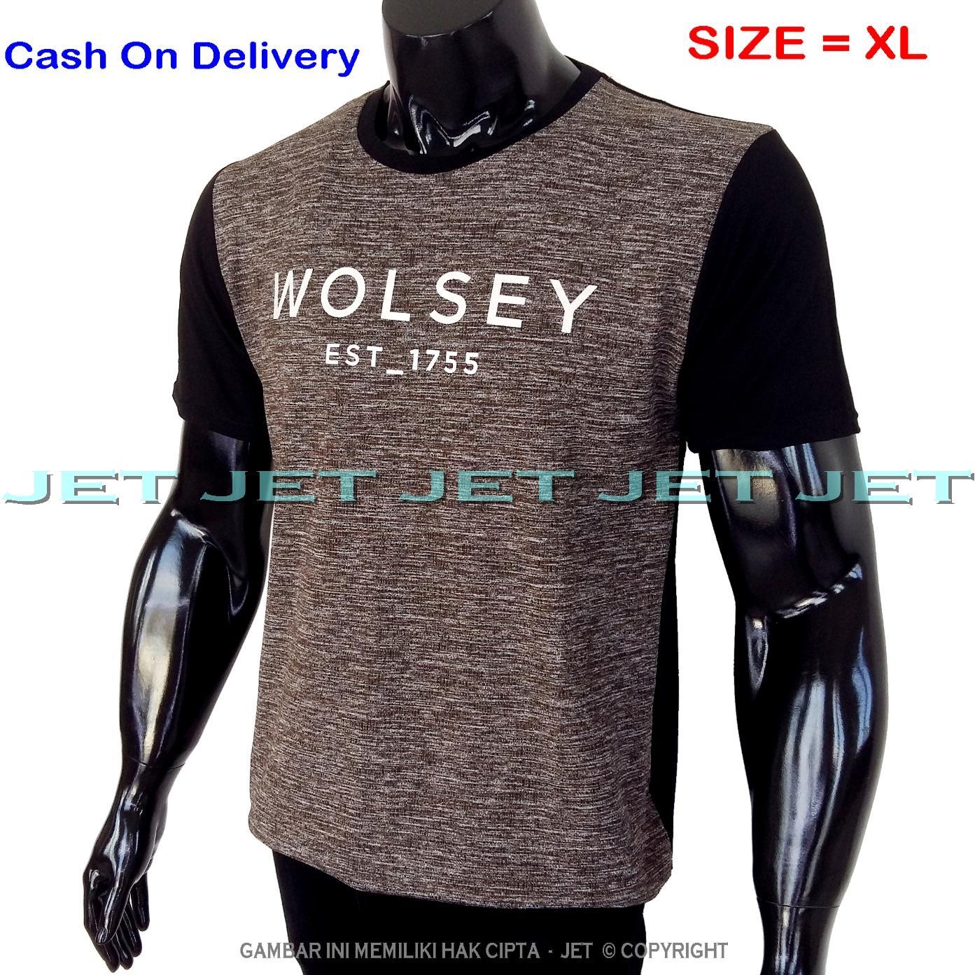 JeT - Kaos Distro WOLSEY Size XL Dewasa Lengan Pendek Soft Rayon Viscose Lycra Tidak Pasaran Sablonan Eropa Gradasi