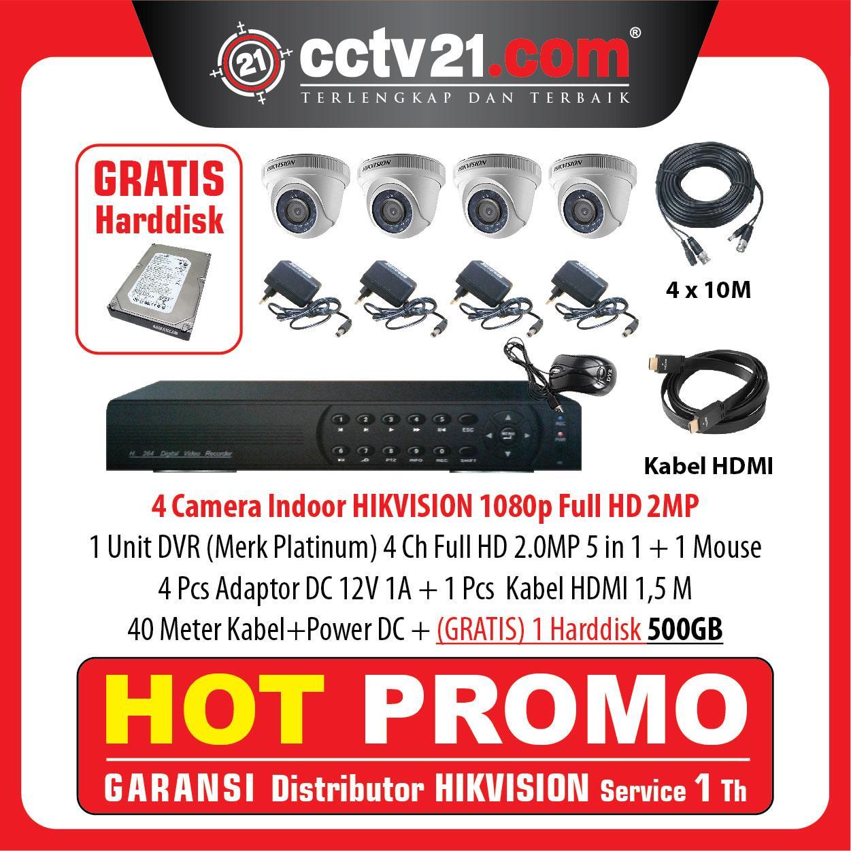 Hot Promo Paket 4 Camera Full  HD Real 2MP Free Harddisk Lengkap Tinggal Pasang