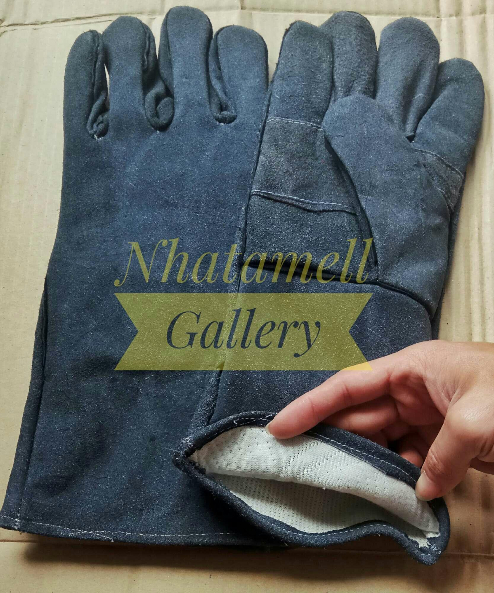 Buy Sell Cheapest Kulit Abu Best Quality Product Deals Sarung Tangan Kombinasi Gloves Safety Welder Las 14inch Tua