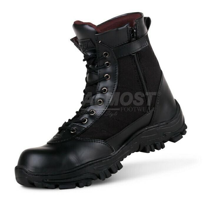 Promo Sepatu Casual Boots Pria Almost SWAT Tactical Safety Ujung Besi (Sepatu Gunung, Sepatu Kerja, Sepatu Jalan, Sepatu Santai, Sepatu Treking, Sepatu Joging, Lapangan, Sneaker, Slip On, Slop, Adidas, Nike, Pria, Wanita, Sepatu Proyek)