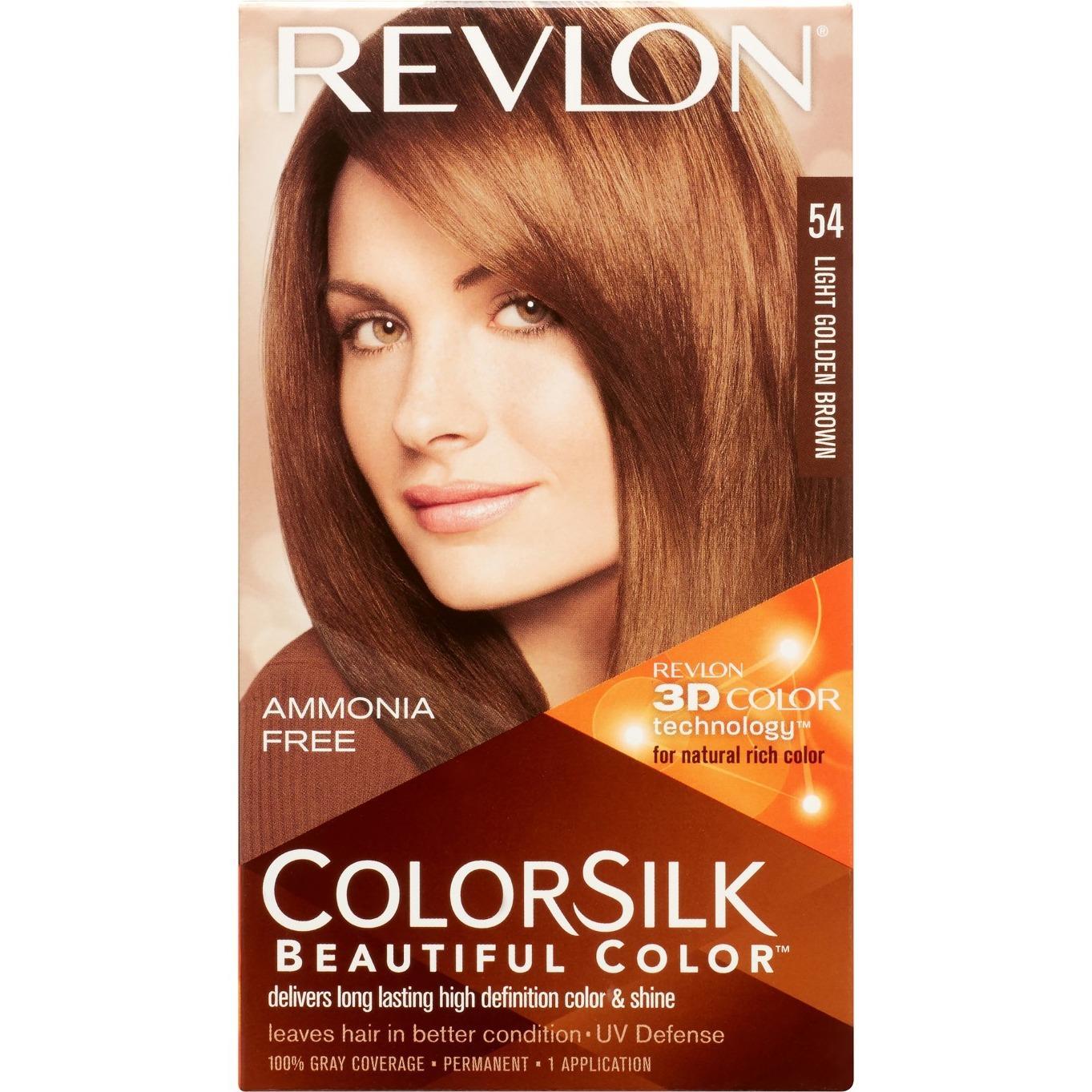 REVLON 54 Light Golden Brown - Pewarna Rambut Alami Bebas Amonia