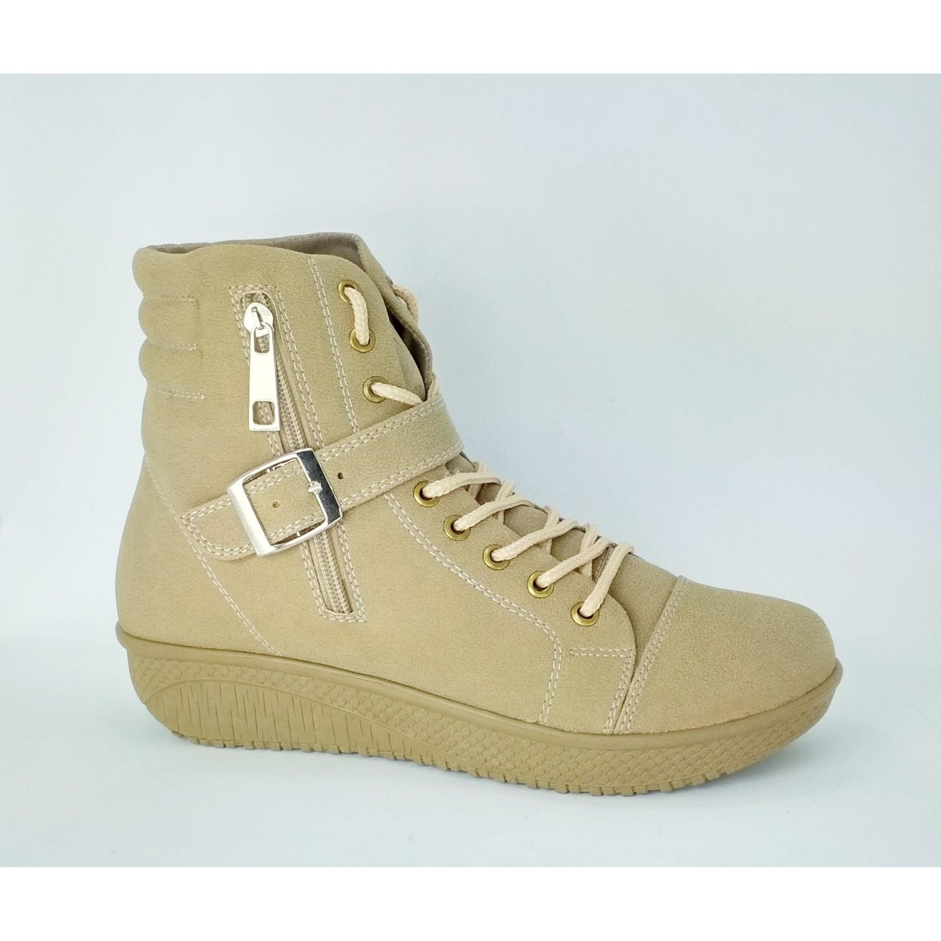 Aluz Sepatu Fashion Boot Wanita NFL 183-Modis -Korean Fashion (Cream)