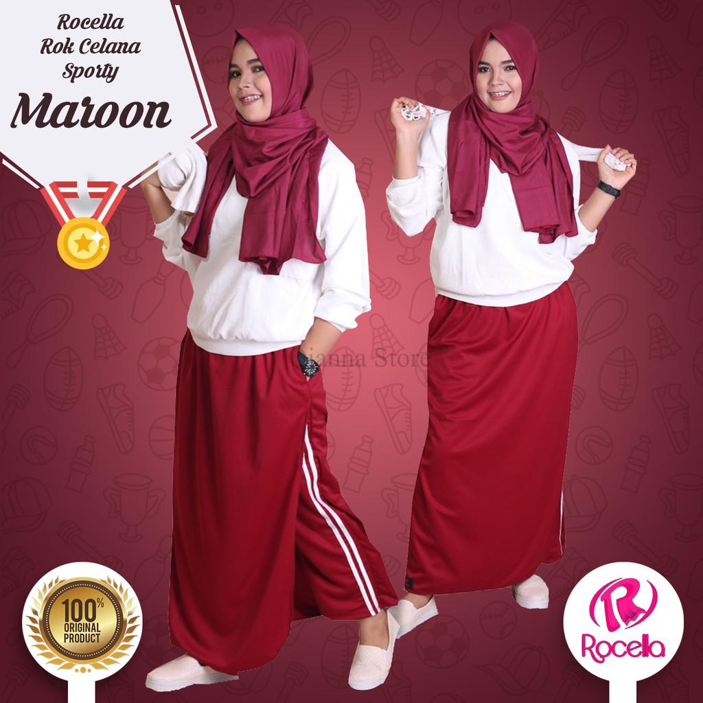 Buy Sell Cheapest Rocella Sporty Rok Best Quality Product Deals Celana Trainy Olahraga Ukuran Xxl Xxxl Marun Wanita Muslim Warna