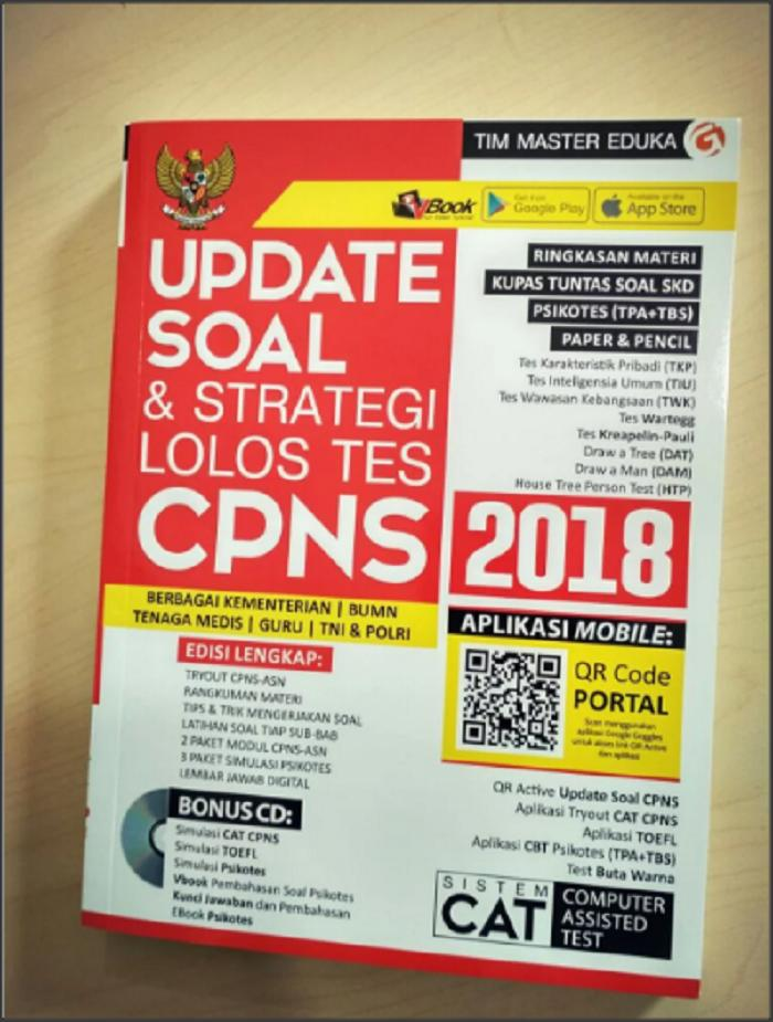 UPDATE SOAL & STRATEGI LOLOS TES CPNS 2018 + QR MOBILE PHONE