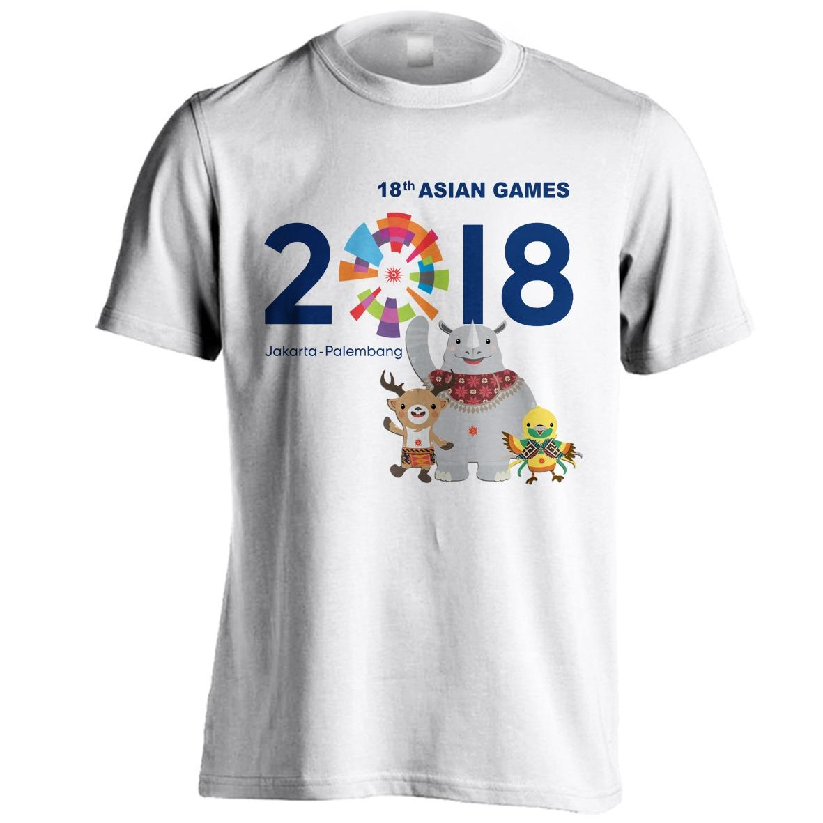 KAOS ASIAN GAMES 2018 JAKARTA PALEMBANG 2018 Energy of Asia Mascot Asian Games Indonesia Juara - MDF STORE