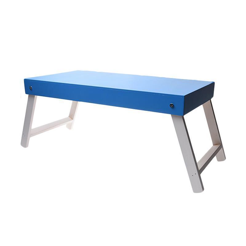 Meja Lipat Belajar Anak New Model - Biru
