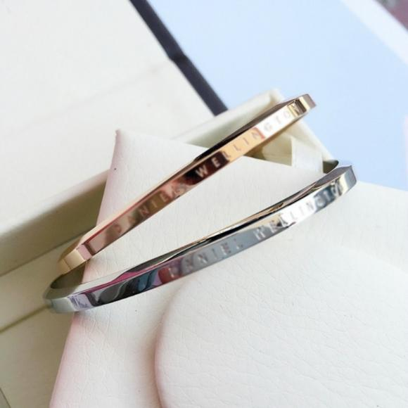 GELANG CUFF DANIEL WELLINGTON DW ROSE GOLD  SILVER LARGE ORI