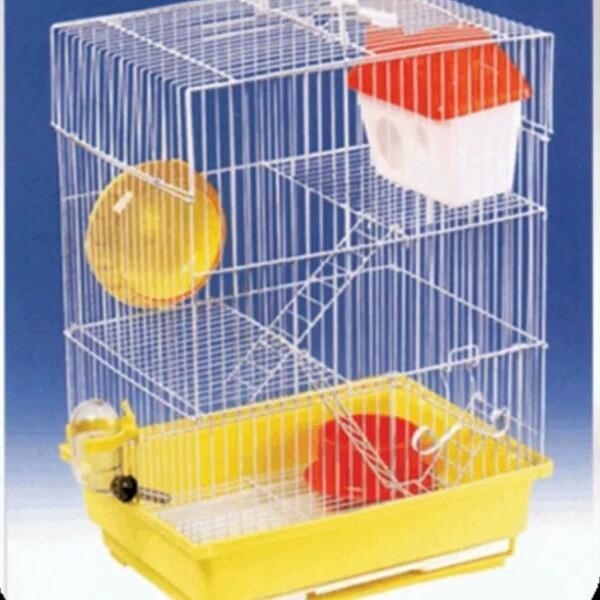 Kandang hamster 2 lantai HM 125 lengkap dengan mainan dan peralatan sesuai gambar ( P 30cm