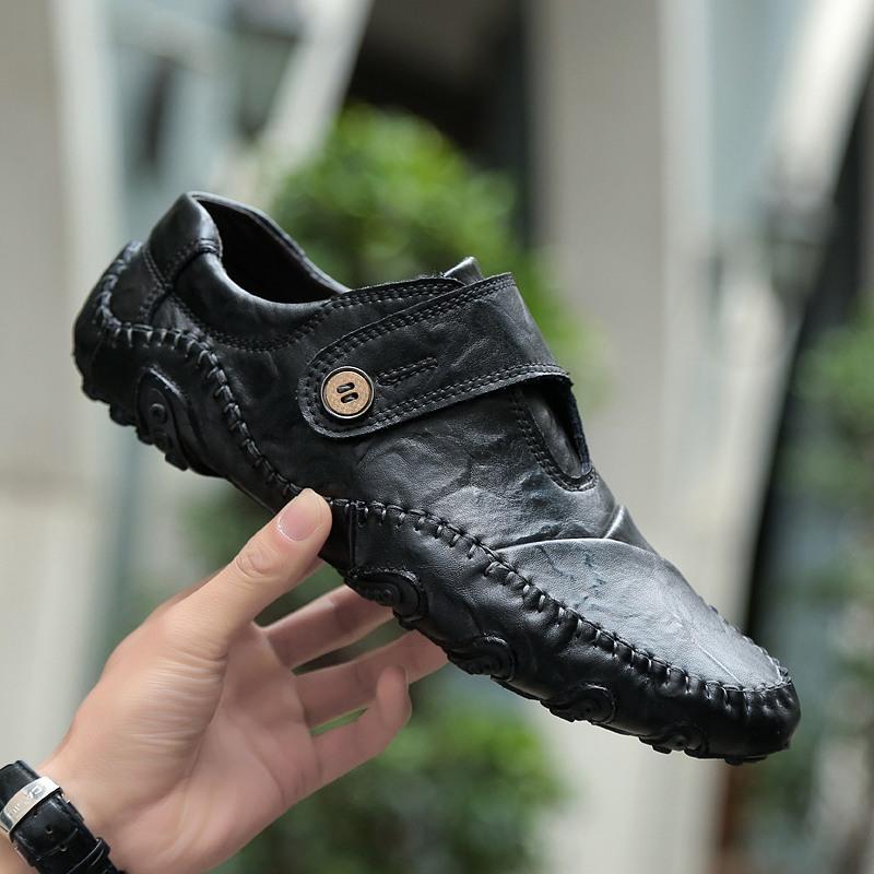 Rp 336.900 2019 model baru musim semi sepatu kulit kasual Octopus sepatu pria ...