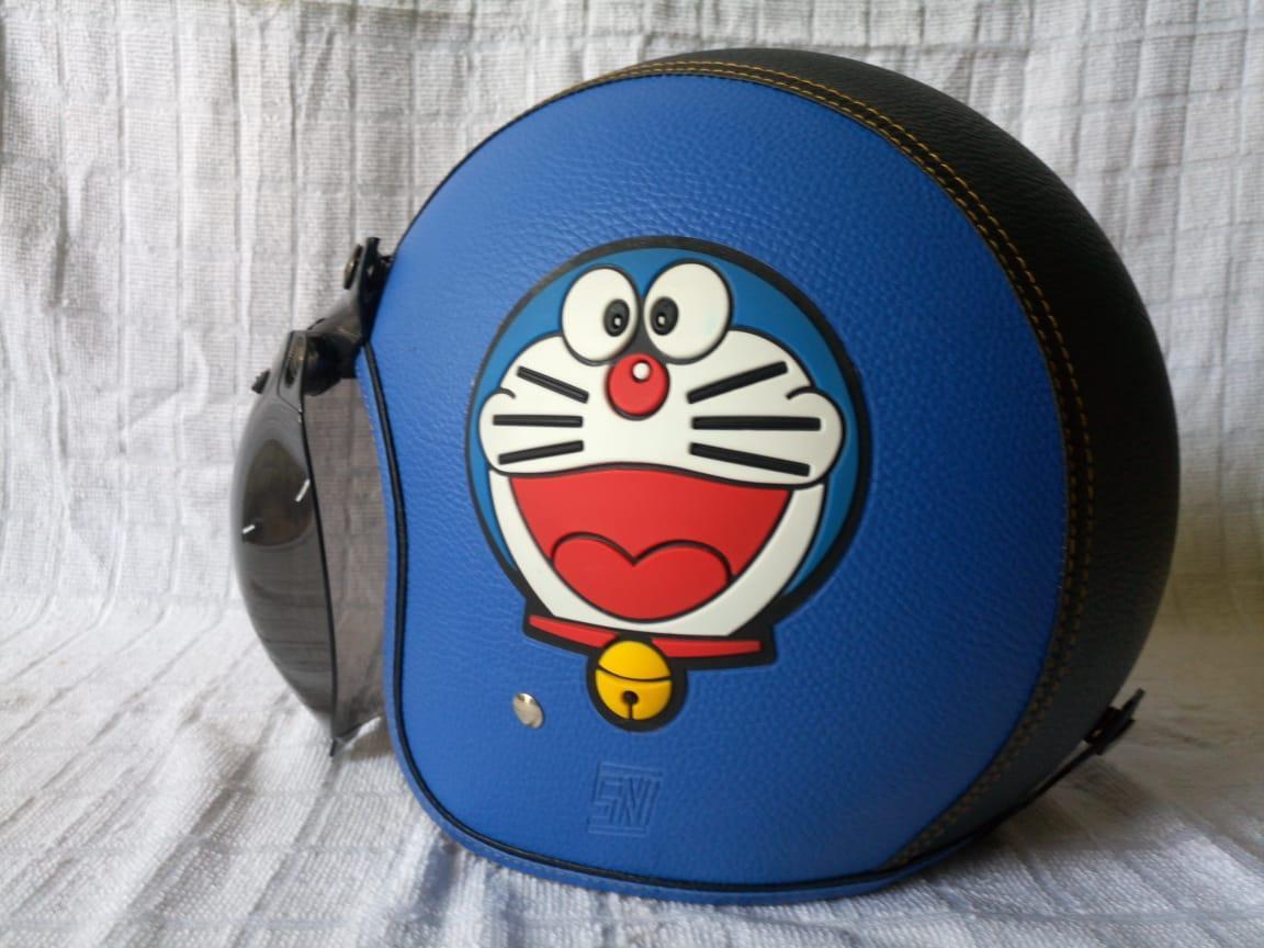 Helm Doraemon Bogo Retro Kulit dewasa