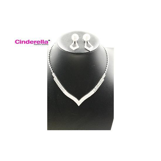 Kalung Set Perhiasan Pengantin Kalung Anting Pesta Aksesoris Fashion Wanita Murah Wanita Terbaru