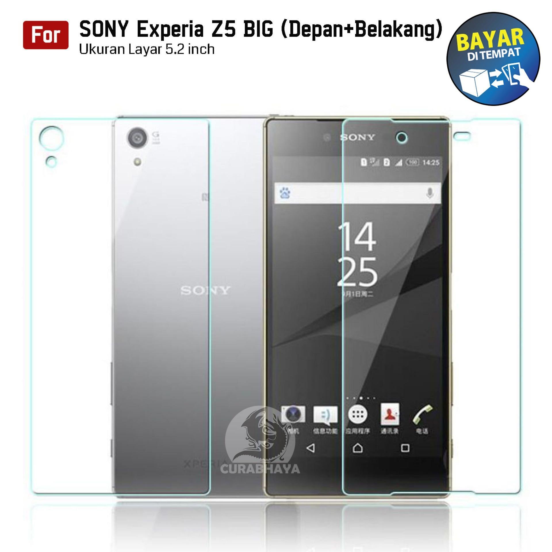 Kong Tempered Glass Sony Xperia Experia Z5 BIG (Depan+Belakang) / Docomo / Dual / E6653 / E6683 / E6603 | (Front+Back) 9H Screen Protector 0.32mm - Bening
