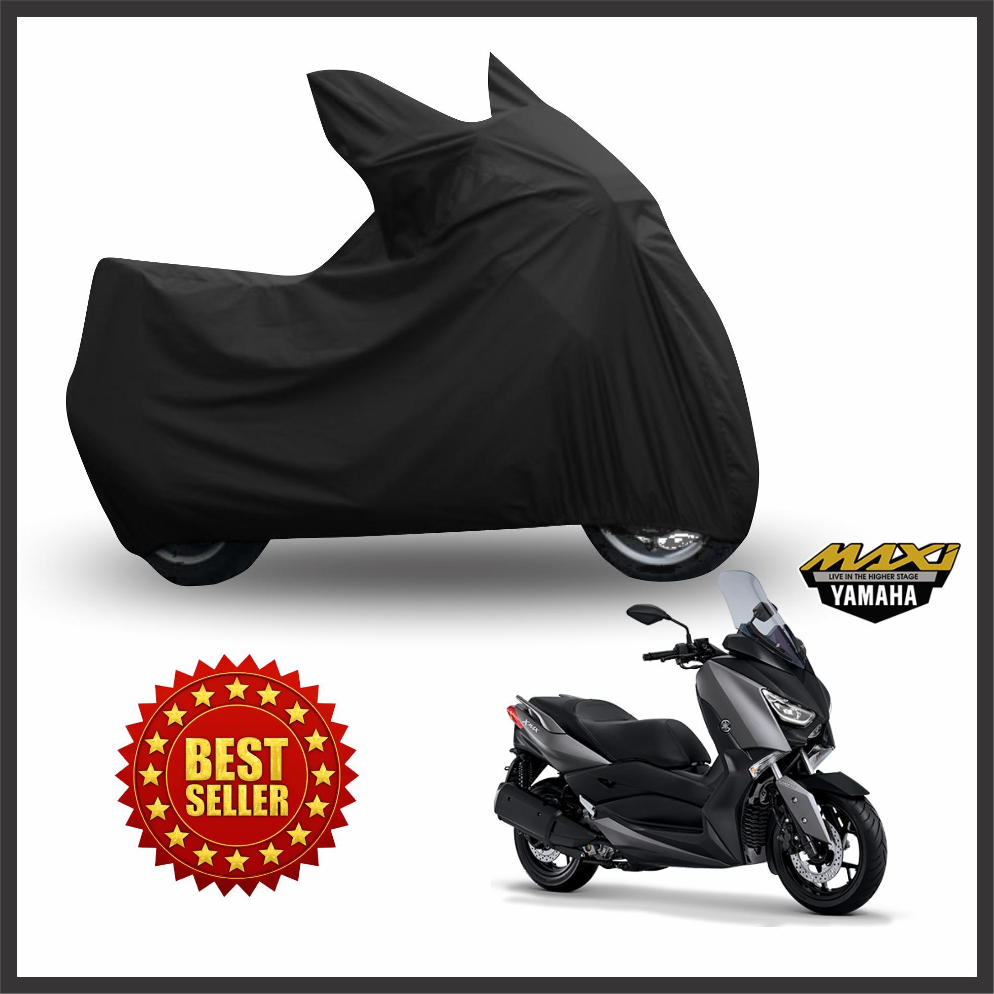 PALING DICARI - Cover Motor Yamaha Xmax 250cc / Sarung Motor Yamaha Xmax 250cc / Pelindung Motor Yamaha Xmax 250cc Premium Hitam Metalik