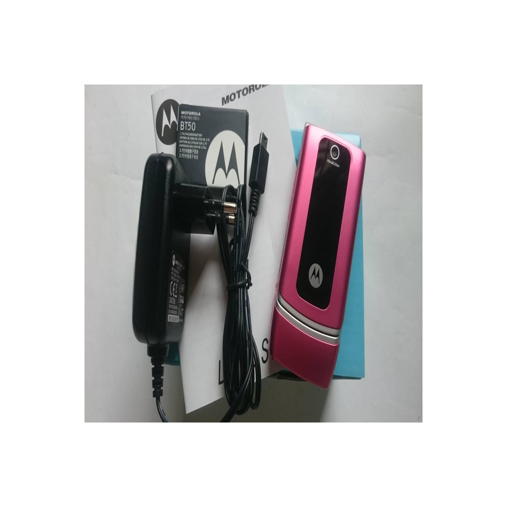 Motorola W375 Flip - Clamshell Pink - HP Jadul Original